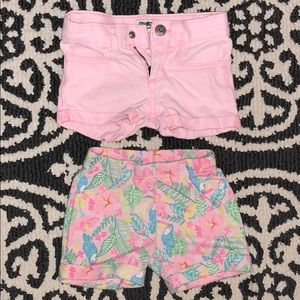 Two pairs of toddler shorts